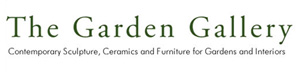 Logo green and white for The Garden Gallery Hampshire UK representing sculptor David Begbie