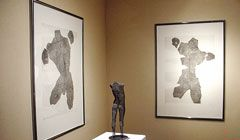 Drawing of a male figure - etchings by sculptor David Begbie